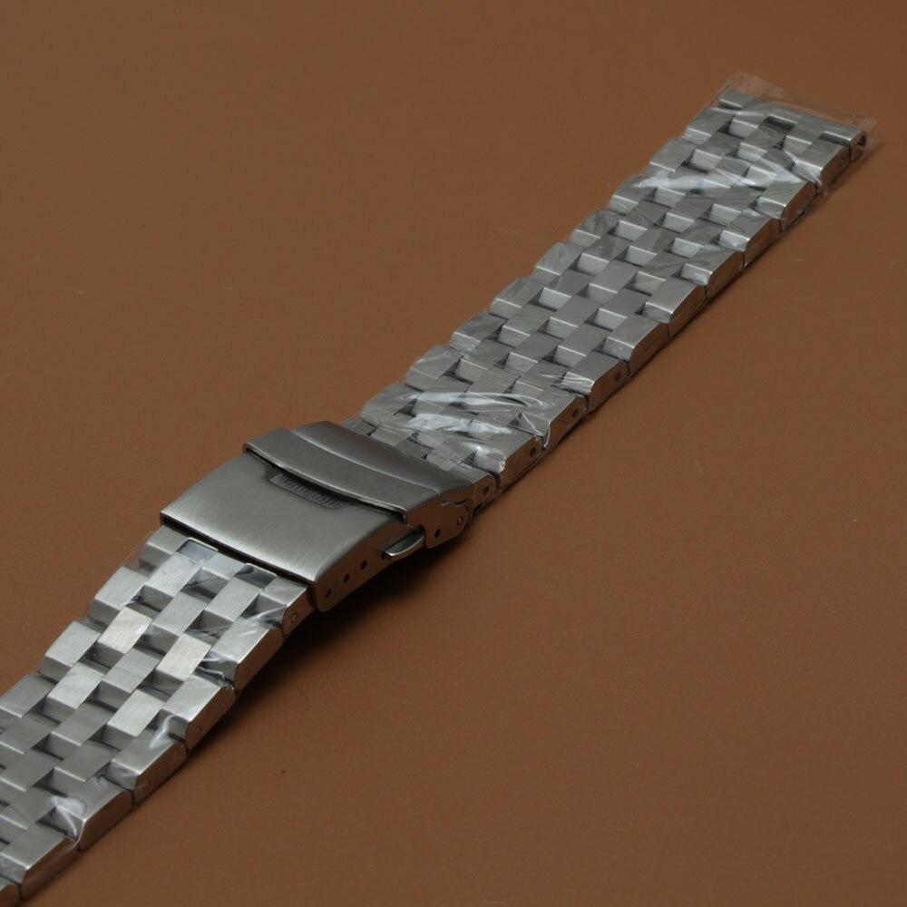 Mat urbåndrem Upoleret armbånd 18mm 20mm 22mm 24mm 26mm sølv - Tilbehør til ure - Foto 2