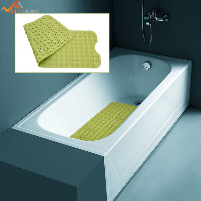 40cmx100cm Nonslip Long Bathtub Mat Safety Cups for Maximum ...