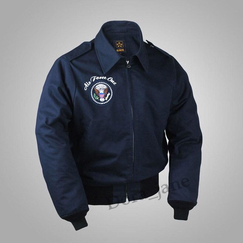 2018 US Air Force 1 WW2 Polit Vol Bomber Hommes A2 Veste Travail Uniforme Militaire USAAF 45/P Automne coton Épais Manteau Plus La Taille