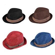 LASPERAL marca Sun sombreros mujeres hombres verano niños bebé sombreros  Fedora Jazz Cool niño tapa sombrero de paja lino Dropsh. ebfea1daefd0