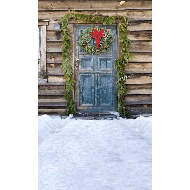 Custom vinyl print cloth Christmas wreath door photography backdrops for kids photo studio portrait backgrounds props ST-294 custom vinyl print cloth red merry christmas photography backdrops for children photo studio portrait backgrounds props s 1004