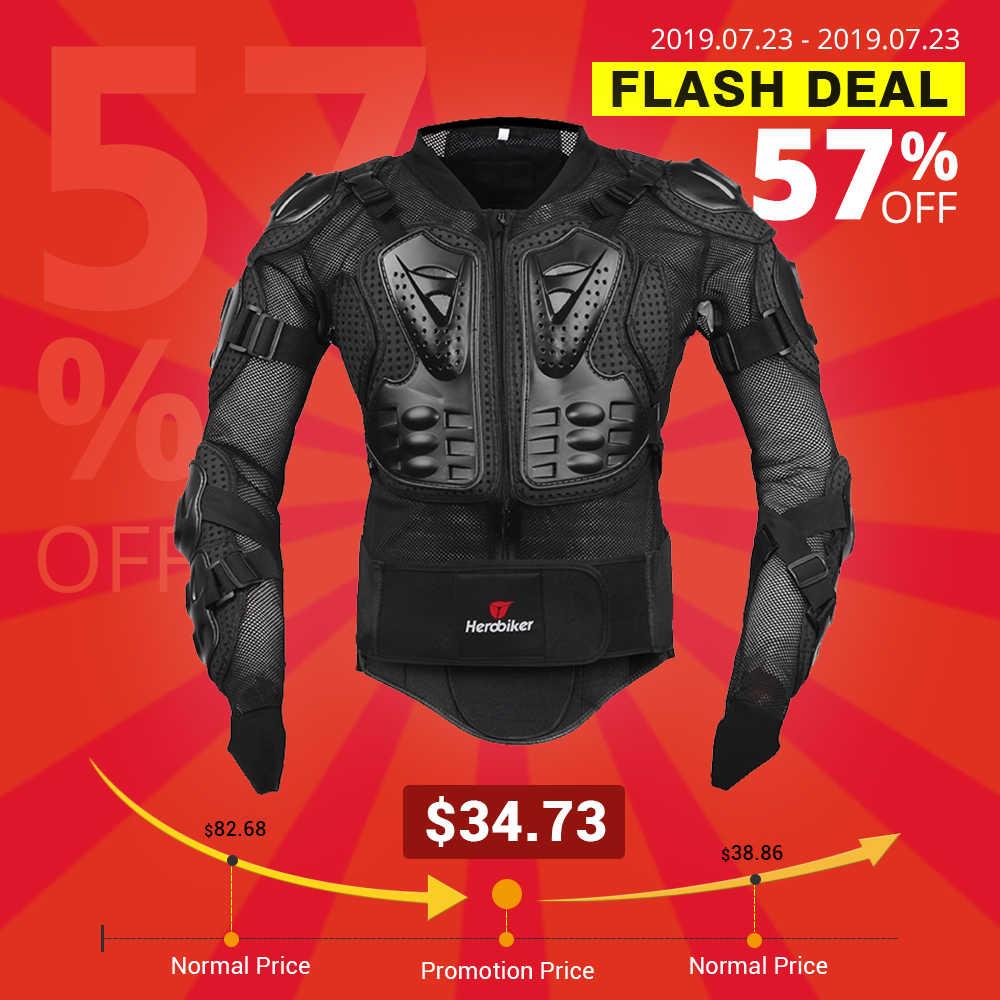 Herobiker мотоцикл куртка для мужчин полный корпус мотоцикл снаряжение для мотокросса гоночная Защитная Экипировка мотоциклетная защита размер S-5XL #