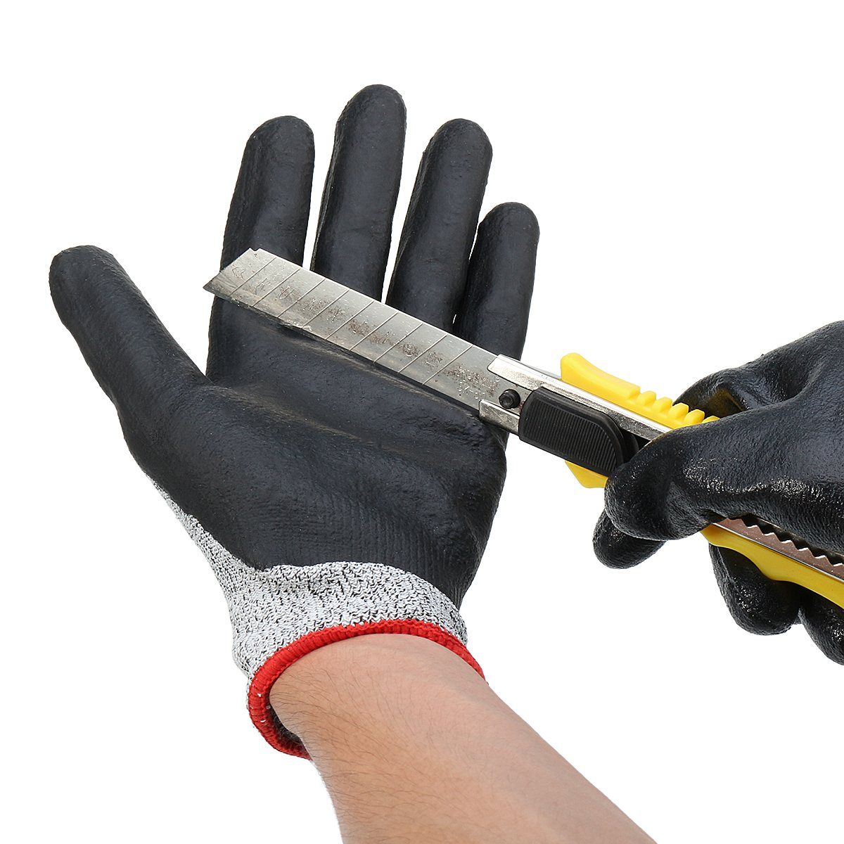 NEW Safurance Safety Cut Proof Stab Resistant Metal Mesh Butcher Gloves Workplace Safety Self Protection butcher