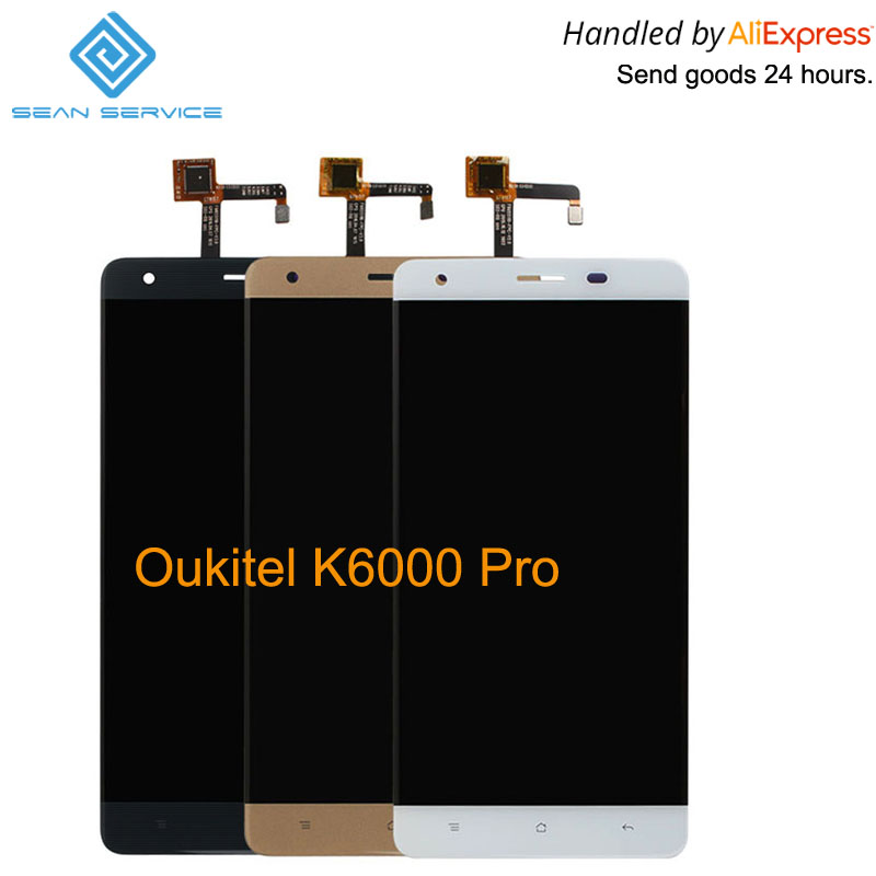 Für Original Oukitel K6000 Pro LCD in handy LCD Display + Touchscreen Digitizer Montage lcds + Werkzeuge 5,5