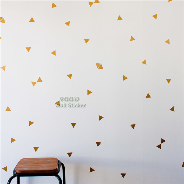 Aliexpress Com Triangles Wall Sticker Kids Room Decoration Gold Decal Nursery Art Decor From Reliable Suppliers
