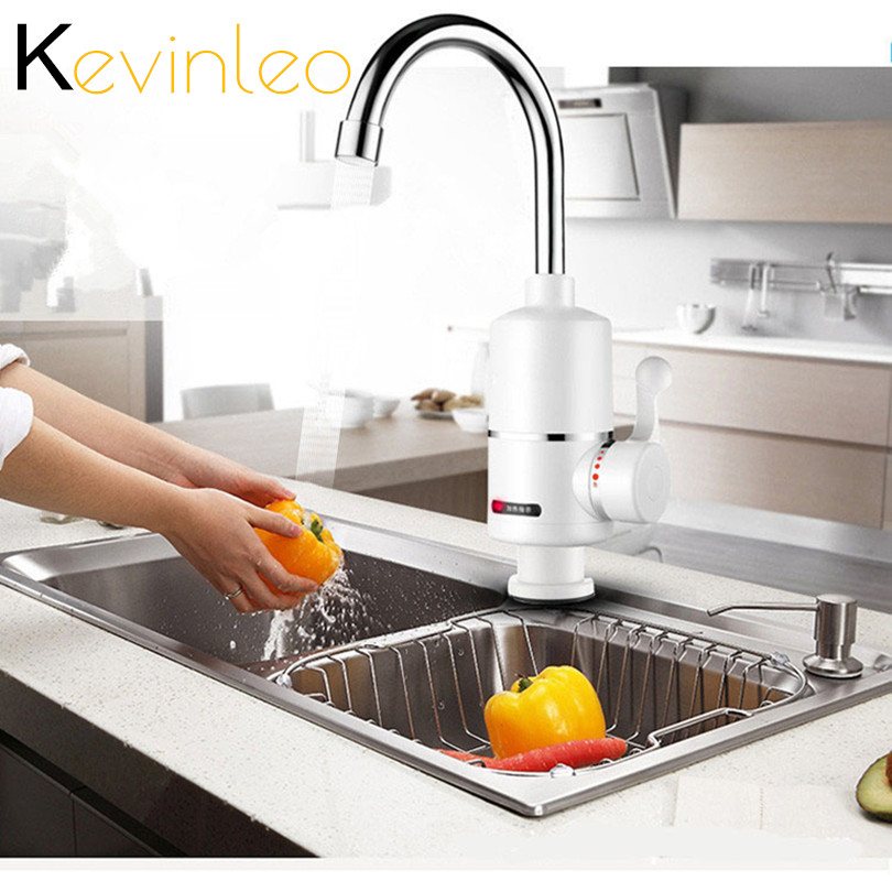 Kitchen Water Heater 3000W Instant Hot Water Tap Electric Heater Water Faucet Instantaneous Heater For кран водонагрева