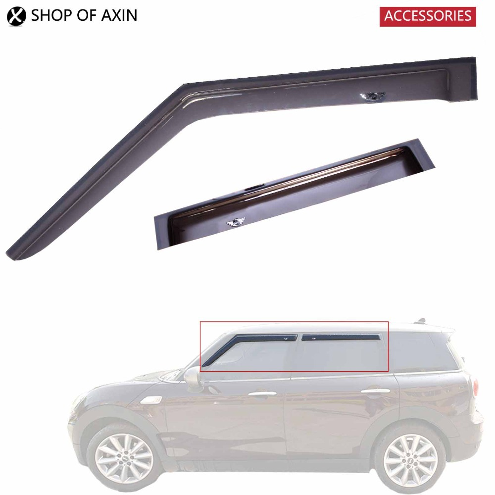 Sun / Rain Guards Acrylic Translucent smoky color For Mini cooper Countryman Hatchback Clubman R53 R55 R56 R57 R60 F54 F55 F60 4pcs set smoke sun rain visor vent window deflector shield guard shade for hyundai tucson 2016