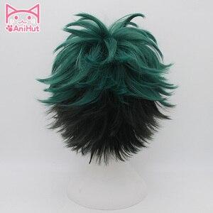 Image 2 - Anihut】 perruque de Cosplay Izuku Midoriya, perruque de Cosplay Anime My Hero Academia, perruques de Cosplay, Izuku Midoriya Deku