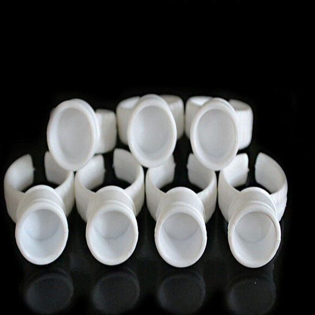 500pcs No Separator Permanent Makeup Easy Ring Ink Container/Cup For INK Supply