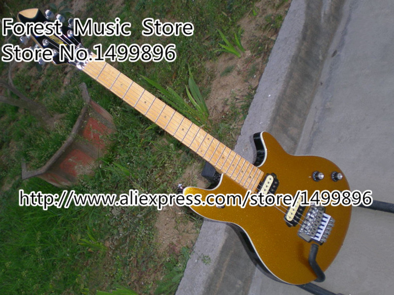 Custom Shop Goldentop Peavey EVH Wolfgang Electric Guitar China Kits & Body Left Handed Custom Available china custom shop left handed wolfgang electric guitar orange quilted finish mahogany body for sale