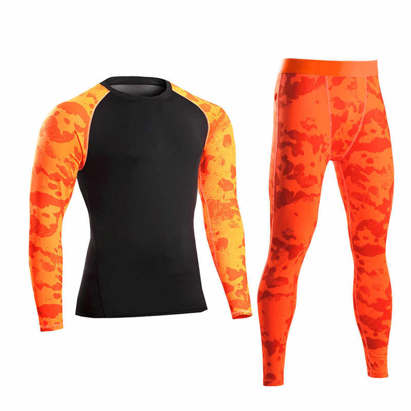 Men Pro Compression Long Johns Fitness Winter Quick Dry Gymming Male Autumn Sporting Sets Runs Workout Thermal Underwear MA4648