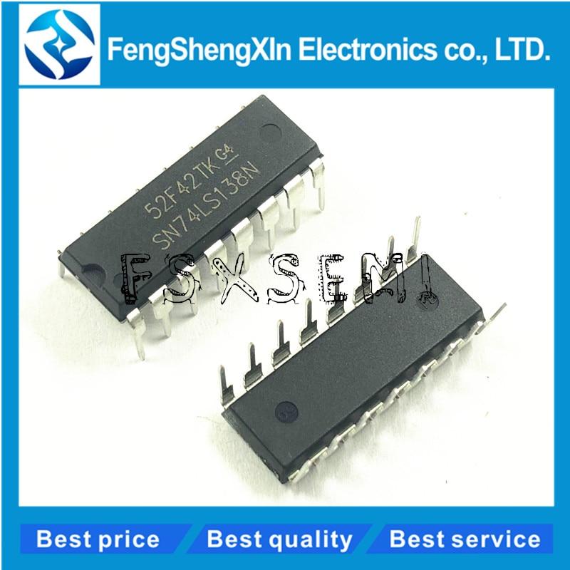 10pcs/lot SN74LS138N SN74LS138 HD74LS138P DIP-16 74LS138 Decoder Demultiplexer IC
