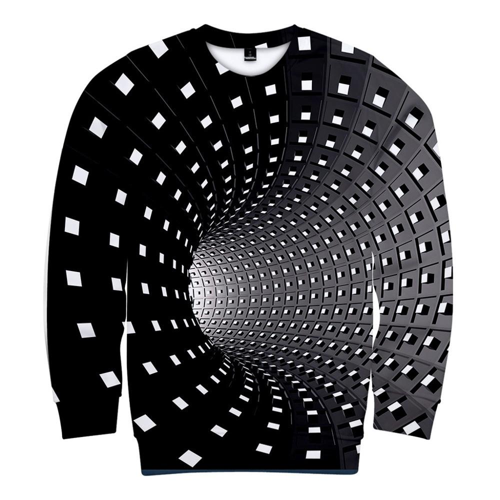 Unisex Mens 3D Printing Creative Round Neck Casual Long Sleeve Sweatshirts Top Blouse