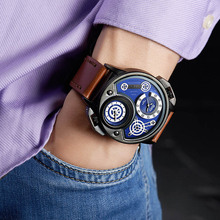 Men Multiple Time Zone Sports Watches Oulm Men