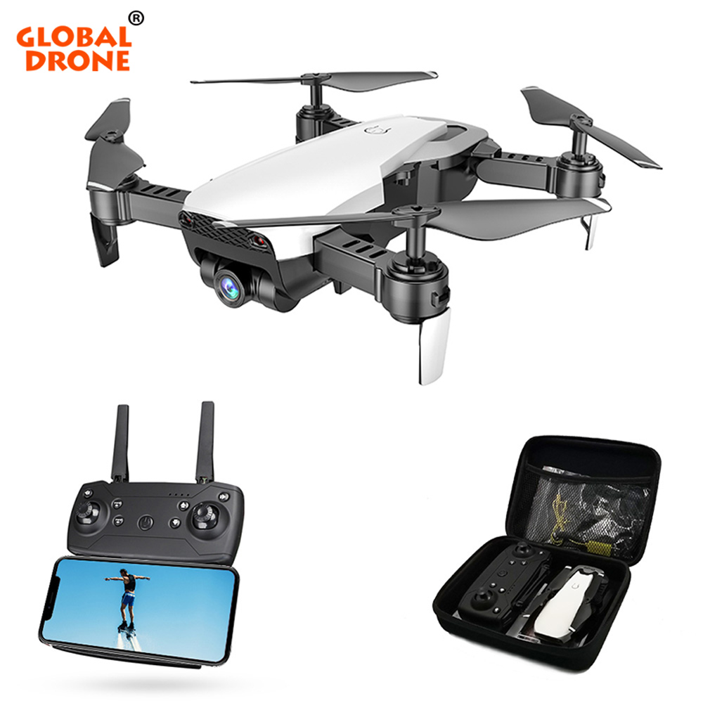 Global Drone FPV Selfie Dron Foldable Drone with Camera HD Wide Angle Live Video Wifi RC Quadcopter Quadrocopter VS X12 E58 E511 360 degree 170 wide angle lens sh5hd drones with camera hd quadcopter rc drone wifi fpv helicopter hover flip live video photo
