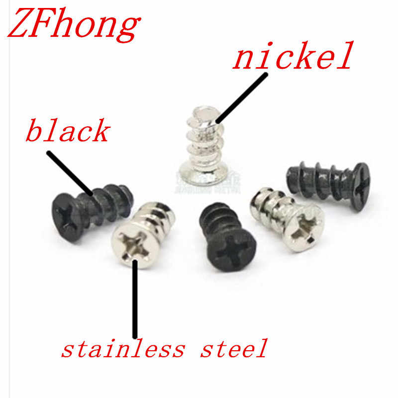 100pcs M5*10 M4*10 Stainless Steel Nickel Plated Zinc plated Computer PC Case Cooling Fan Mount Screws