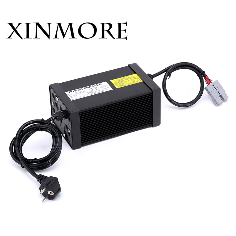 XINMORE 84V 10A 9A 8A Lithium Battery Charger For 72V E-bike Li-Ion Battery Pack AC-DC Power Supply for Electric Tool yangtze 67 2v 10a 9a 8a lithium battery charger for 60v e bike li ion battery pack ac dc power supply for electric tool