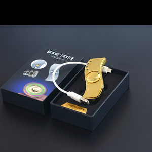 Image 5 - 2017 Nuovo USB Mano Spinner Accendino Ricaricabile Accenditore Elettronico della Sigaretta Turbo Lighter Cigar Plasma Impulso Dito gyro