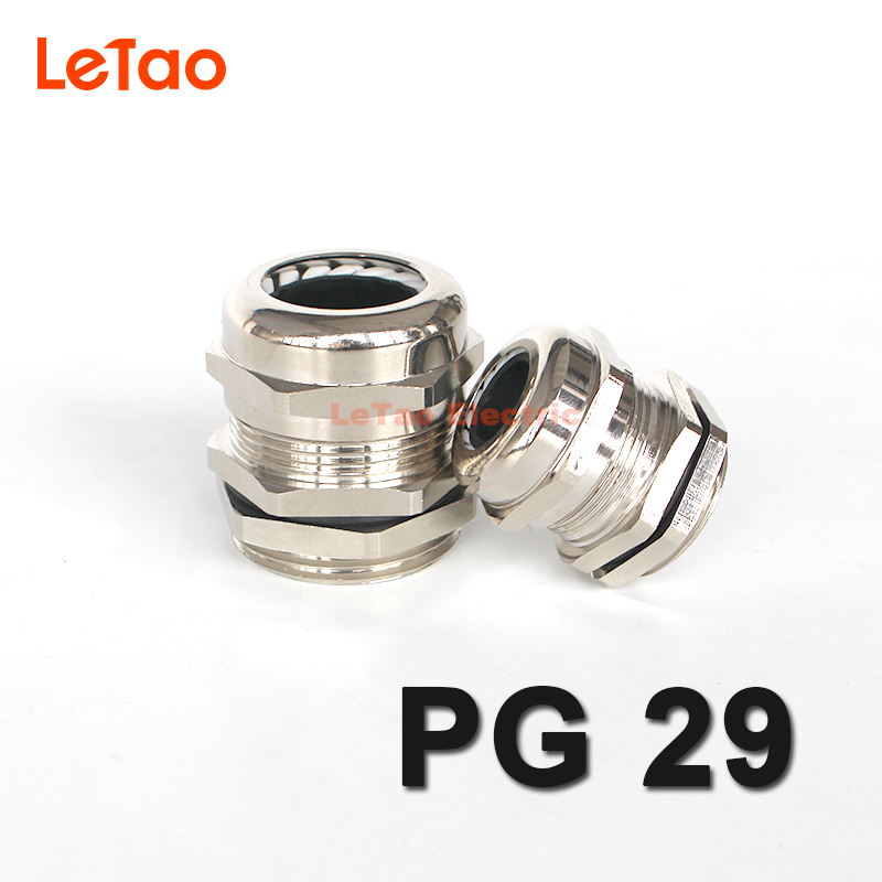 1pc/lot PG29 Nickel Brass cable gland Waterproof metal connector IP68 Wire Glands electrical joint for18-25mm