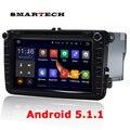 VW Радио Android 5.1 Quad Core 1024*600 Dvd-плеер Автомобиля Стерео Navi Для VW Skoda POLO GOLF PASSAT CC JETTA Steeringwheel OBD WI-FI