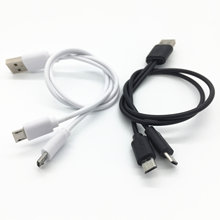 Free Shipping 1FT 20cm USB Male To 2x Micro Y Splitter Charging Cable for Two Phone CELL Dual Micro Usb(China)
