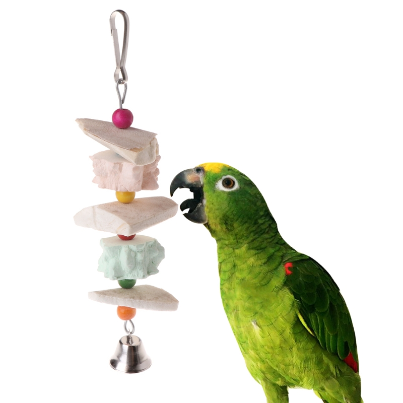 Bird Supplies Cooperative Parrot Bite Teeth Care Chew Parrot Minerals Sticks Molar Toy Cockatiel Cage Hammock Swing Toy Hanging Toy