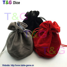 "TOP Quality Dice bag Jewelry Packing Velvet bag 6*5.5"" Velvet Drawstring bags & Pouches for gift game for Board Game"