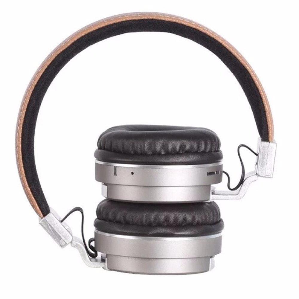 Leather Bluetooth gaming headphone BT008 for Sports Wireless headset for Media music mp3 PC bluetooth headband with microphones
