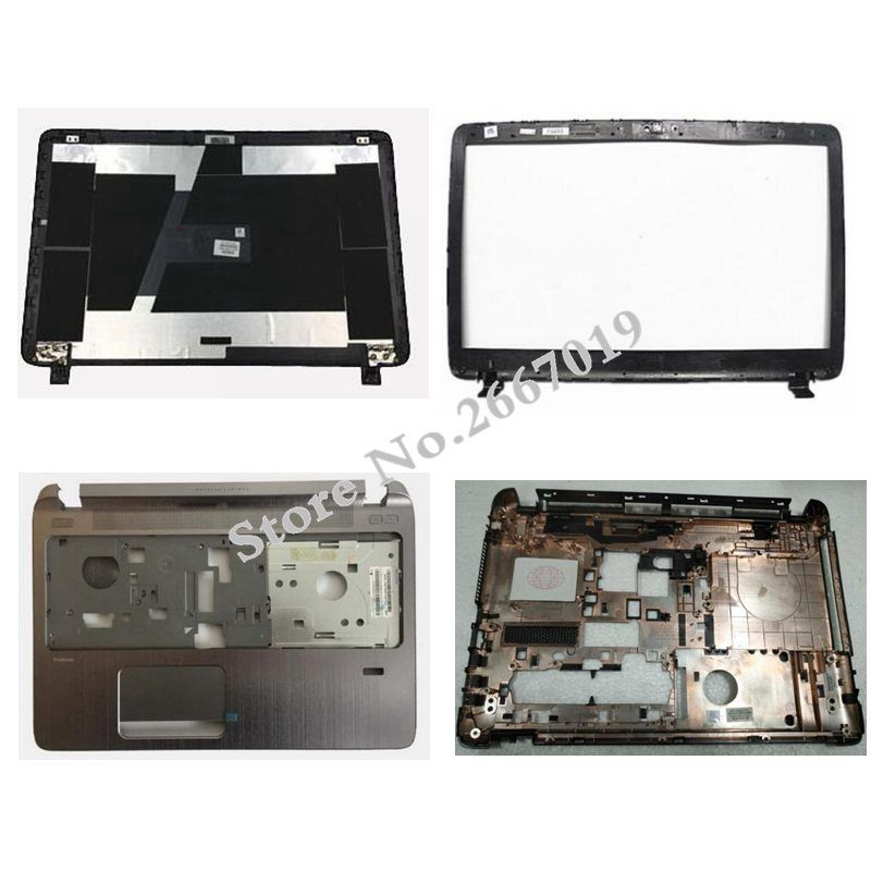 NEW Laptop LCD TOP Cover For HP Probook 450 455 G2 LCD Front Bezel/Palmrest Upper/Bottom Case Cover 791689-001 AP15A000410