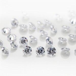 Image 3 - 5000pcs 1A 0.8~3mm  white loose cubic zirconia stones bead round cut loose cubic zircon stone