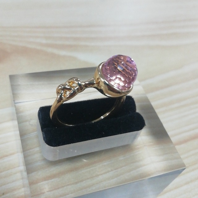 Hot Sale Pink Crystal Moonstone Rings European Fashion Female Creative Knot Rings Plated Rose Gold Color Jewelry Size 6-10