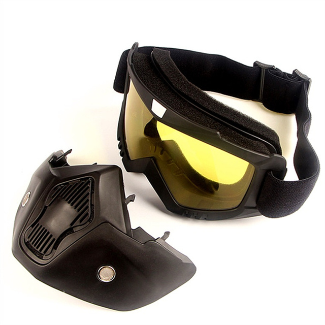 Dust-proof Men Women Cycling Bike Full Face Mask Windproof Winter MTB Goggles Bicycle Snowboard Ski Masks with Anti-UV Glasses 6