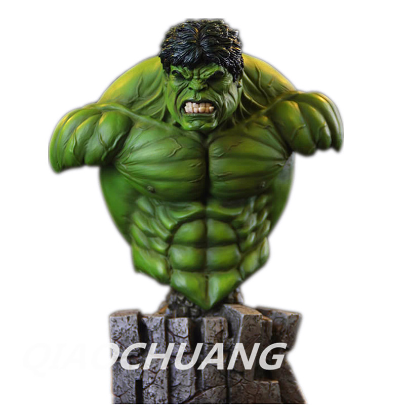 Statue Avengers Superhero Hulk 1:4 Bust Robert Bruce Banner Head Portrait Resin Action Figure Collectible Model Toy W75 statue avengers superhero hulk 1 4 bust robert bruce banner full length portrait resin imitation iron collectible model toy w248