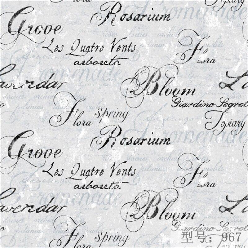 beibehang English letter non-woven bedroom living room wallpaper study room restaurant living room wallpaper