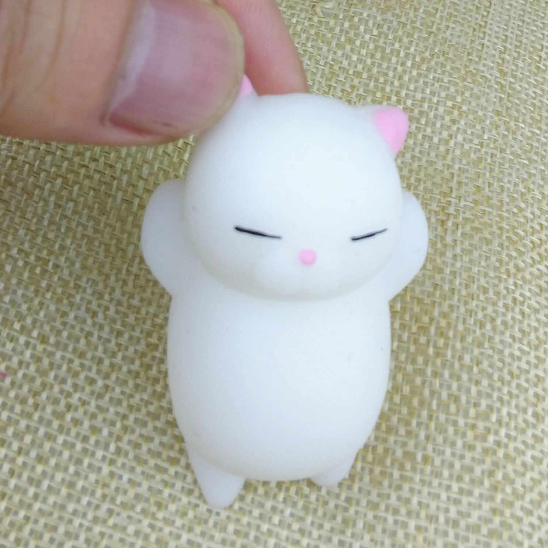Besegad 4pc 어린이를위한 귀여운 부드러운 tpr 짜기 만화 고양이 동물 장난감 squishy 성인은 스트레스 squishies 불안 장식을 완화
