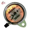 Universal Motorcycle Dual Odometer Speedometer Gauge Tester Miles Speed Meter