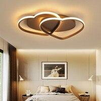 Branco/café led luzes de teto criativo em forma de coração quarto quente romântico conduziu a lâmpada do teto decoração do hotel para casa iluminação mx5091652