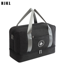 New pattern Men's dry and wet separation travel bag shoes bag ladies swimwear storage wash bag fitness suitcase beach waterproof