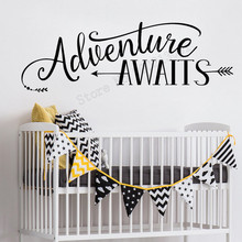 Wall Art Sticker Adventure Awaits Room Decoration Sweet Decal Vinyl Removeable Fashion Ornament Kidsroom Poster Mural LY506