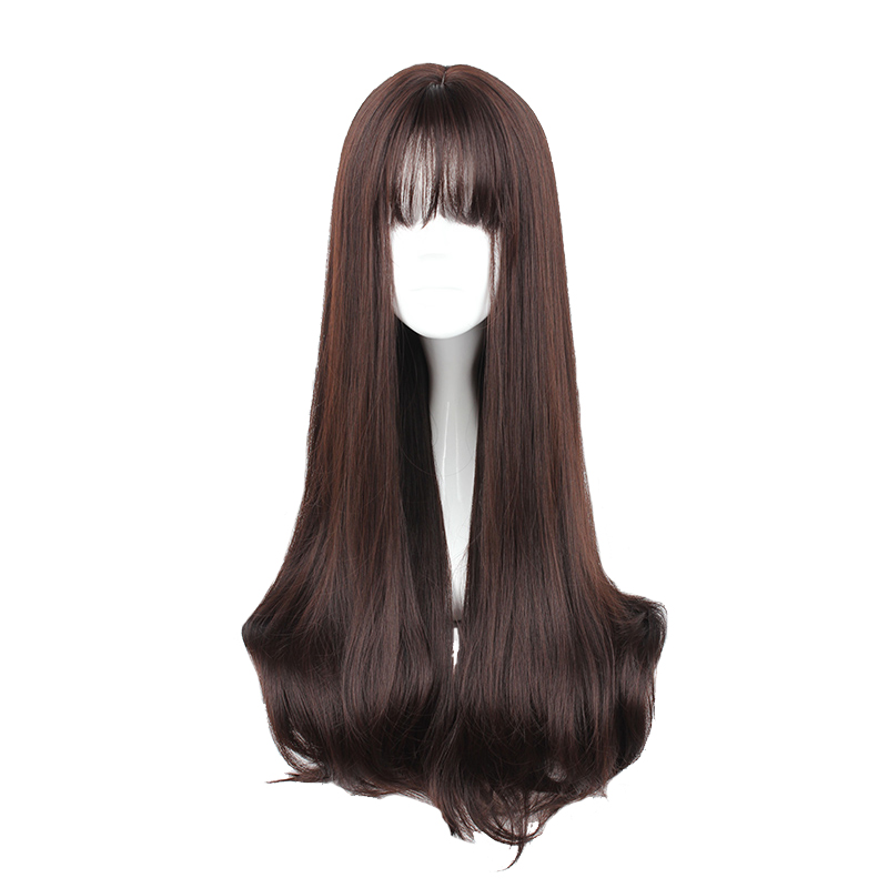 MCOSER 70CM Japan And South Korea Synthetic Hair Air Bang Mix Color Harajuku Cosplay Wig 100% High Temperature Fiber WIG-635(China)