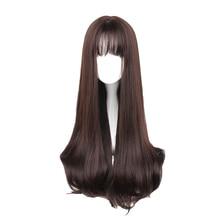 MCOSER 70CM 일본과 한국 합성 머리 에어 뱅 믹스 컬러 하라주쿠 코스프레 가발 100% 고온 섬유 가발 635