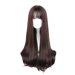 Image 1 - MCOSER 70CM Japan und Südkorea Synthetische Haar Air Bang Mix Farbe Harajuku Cosplay Perücke 100% Hohe Temperatur Faser PERÜCKE 635