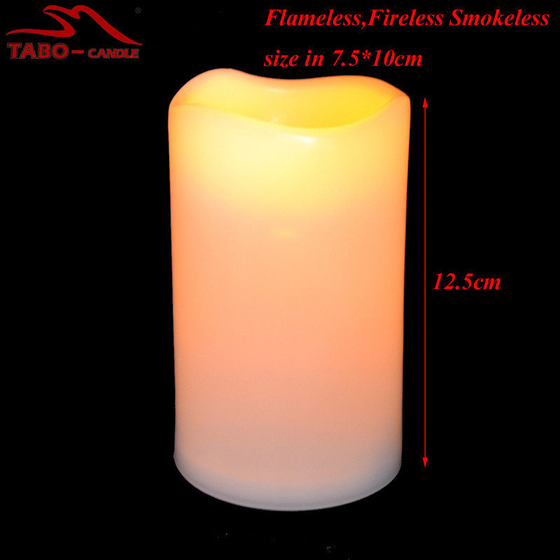 Flameless Battery Operated LED Flickering Light Candles with Wave Top The Best Halloween Decoration Fireless LED Candles