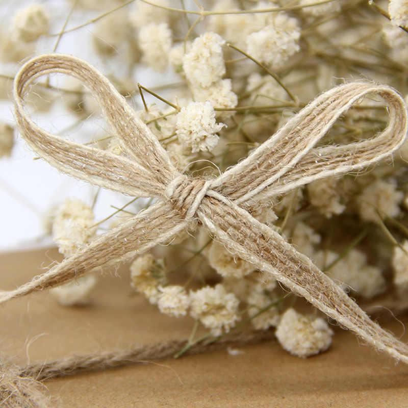 10 M/rollo 5mm cinta de cáñamo Natural yute arpillera cintas boda fiesta Navidad decoración DIY manualidades embalaje de regalo ribbo