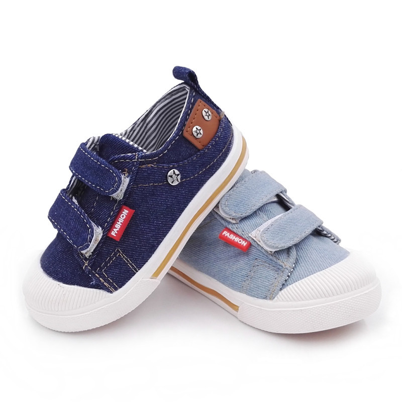 Kids Shoes Children Boys Denim Slip-on Shoes For Toddler Baby Boys Canvas Breathable Sports Shoe Infant Casual Shoes Sneakers 29