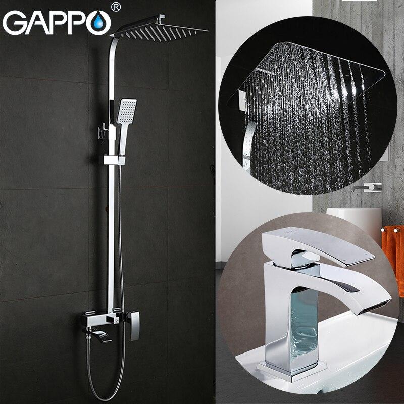 GAPPO Shower Faucets bath tub taps bathroom shower set basin faucets basin sink tap shower system
