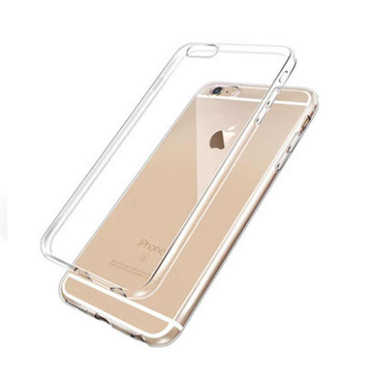 Case For iPhone X 8 7 6 6s Plus Clear Soft TPU Case Silicone Protective Sleeve Transparent Cover For iPhone 5 5S Back Shell