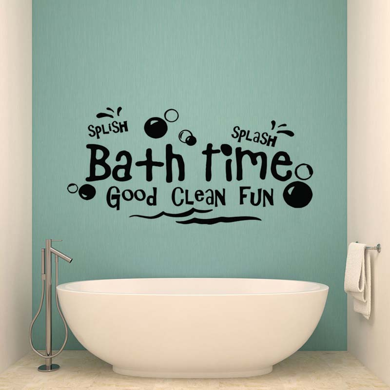 Aliexpress.com : Buy Creative Bath Time Wall Stickers Bathroom Bathtub Home  Decor Toilet Decal DIY Removable Vinyl Stickers JG2315 From Reliable Wall  ... Part 82