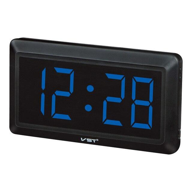New Modern Plastic Table Clock Digital LED Wall Clock Glowing