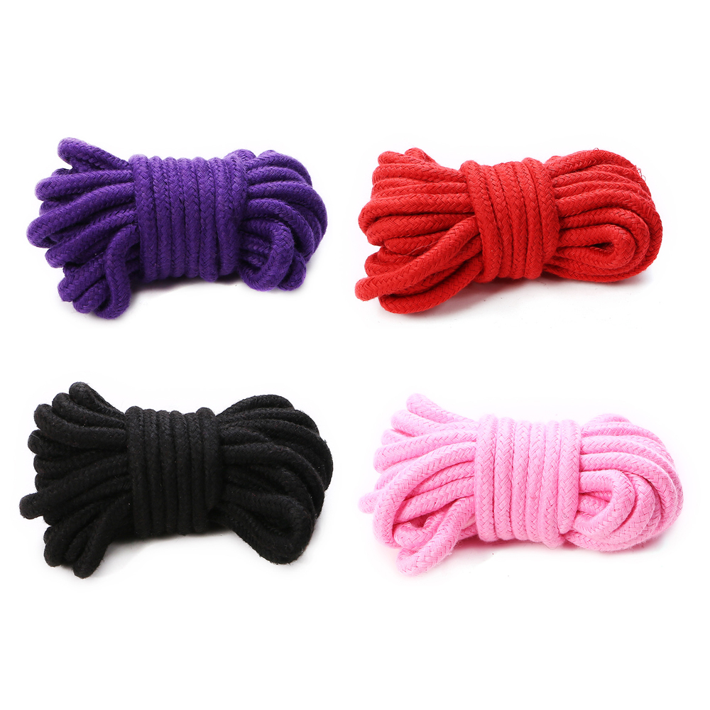 5m 10m Adult Games BDSM Bondage Erotic Products Soft Cotton Rope Restraint Belt Flirting Sex Toys For Couples Slave Fetish